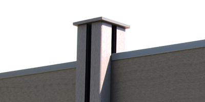 poteau pour claustra avec capuchon aménagement jardin extérieur
