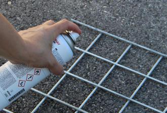 bombes galva pour retouche clôture gabion
