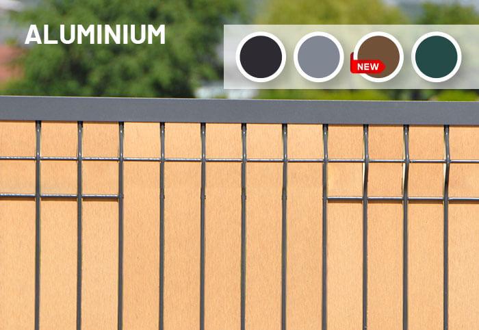 Lisse de finition aluminium pour latte occultante de clôture
